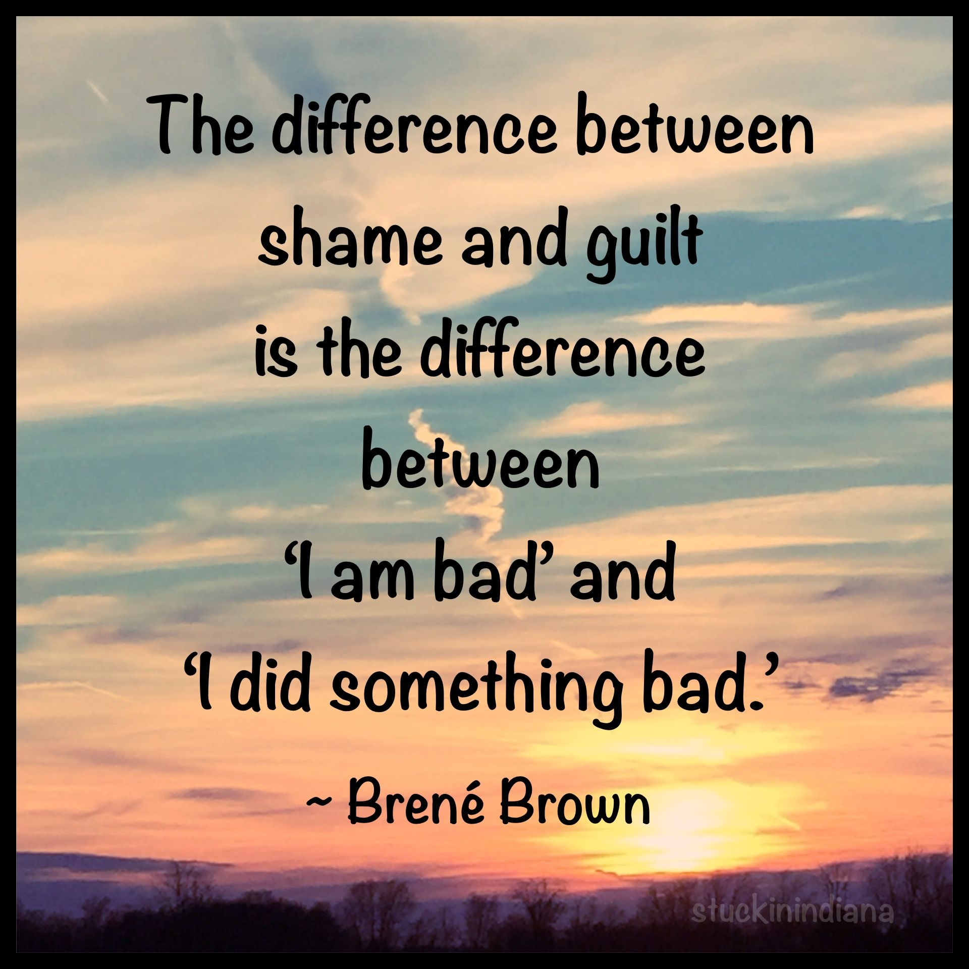 shame and guilt brene
